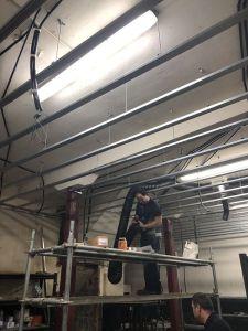 canalizaciones para la ventilación electricidad y fontaneria