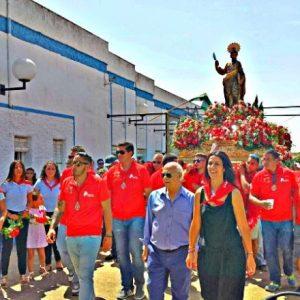 Patrono de Beas, San Bartolomé, visita Betsaida, Casa de Misericordia, por primera vez en la historia.