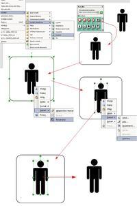 MS visio diagram. Gdzie znaleźć postać człowieka