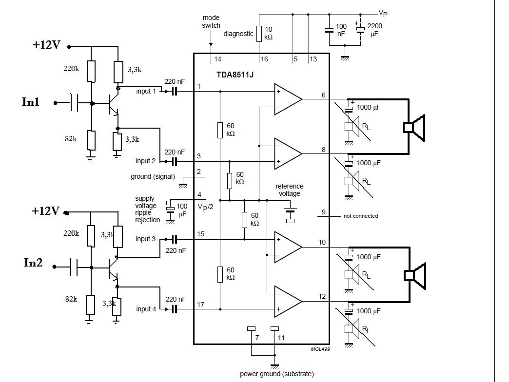 Power Amplifier Based On Tda J