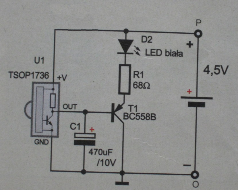 Send signals to TSOP1736 IR SENSOR