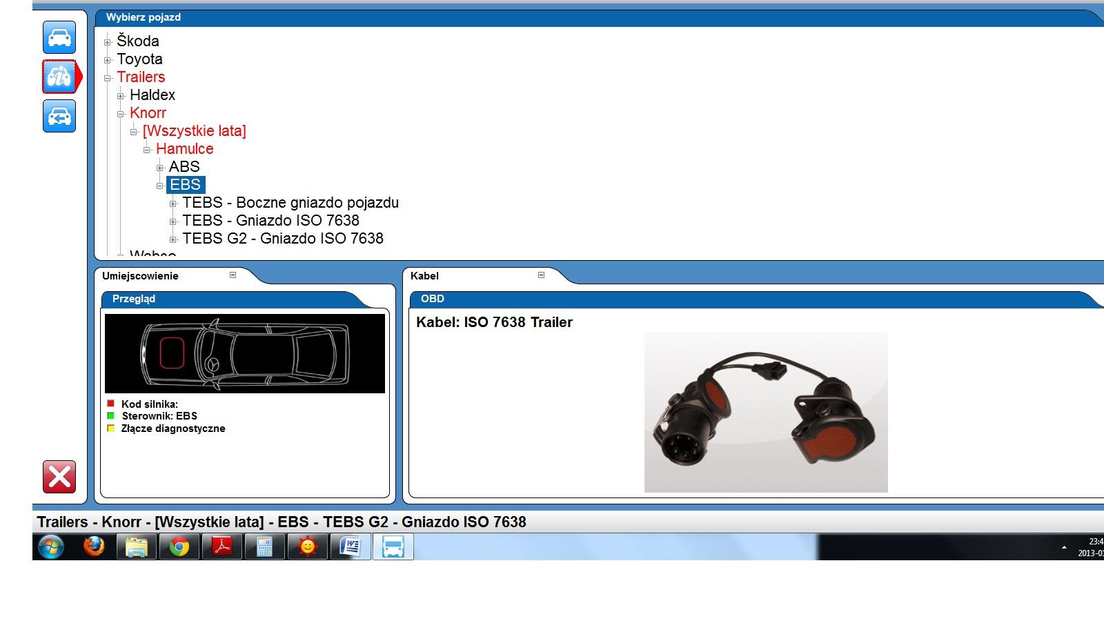 wabco abs kabel jeep wiring diagram schemat podłączenia gniazda ebs iso 7638 1 daf xf