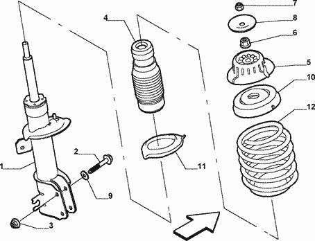 Wymiana poduszek przednich amortyzatorów Fiat Stlo JTD