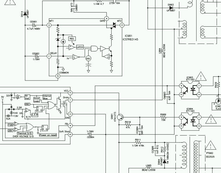 TV Plazma Medion MD31842-Uszkodzona dioda w zasilaczu