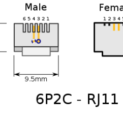 Krone Rj12 Wiring Diagram 4 Pin Relay Spotlight Rj11 Pinout + Informations