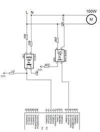 Atmega8, PC814, BT136, detektor zera-regulacja fazowa wł/wył