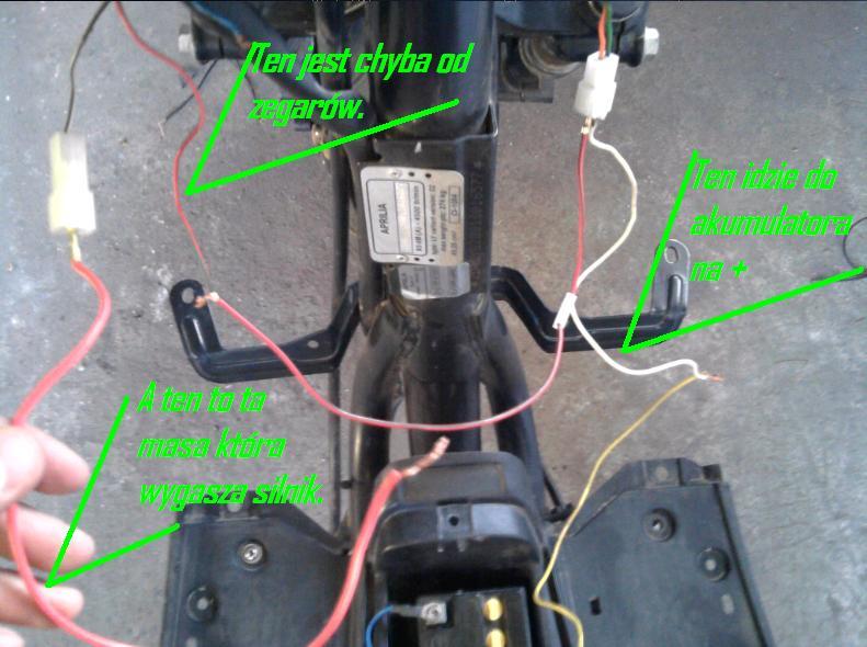 50cc Yamaha Wiring Diagram Przewody Do Gaszenia I Odpalania Stacyjki Aprilia Sr50