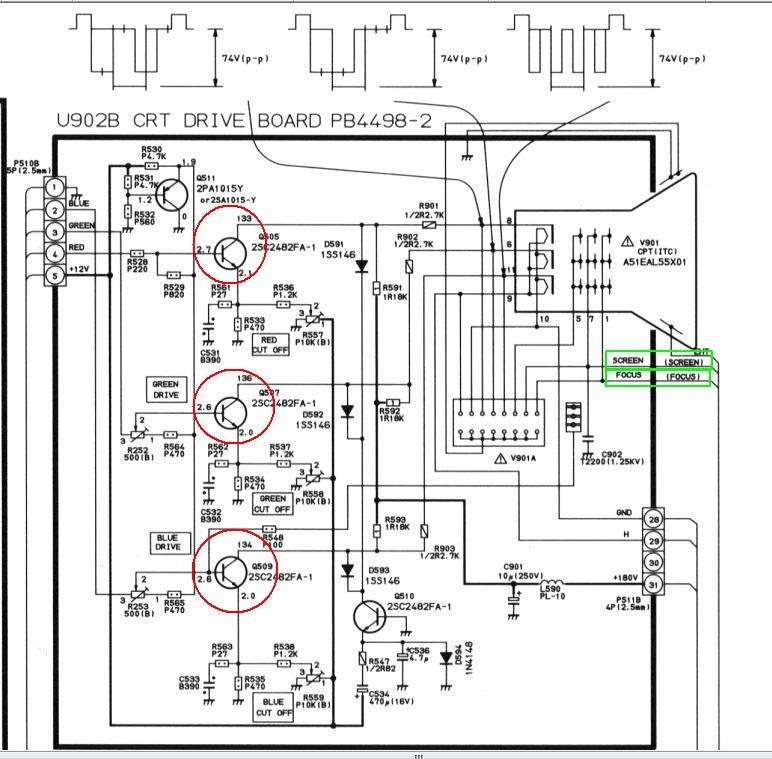 [Rozwiązano] TV CRT Toshiba Model 2140. Lekko czerwony