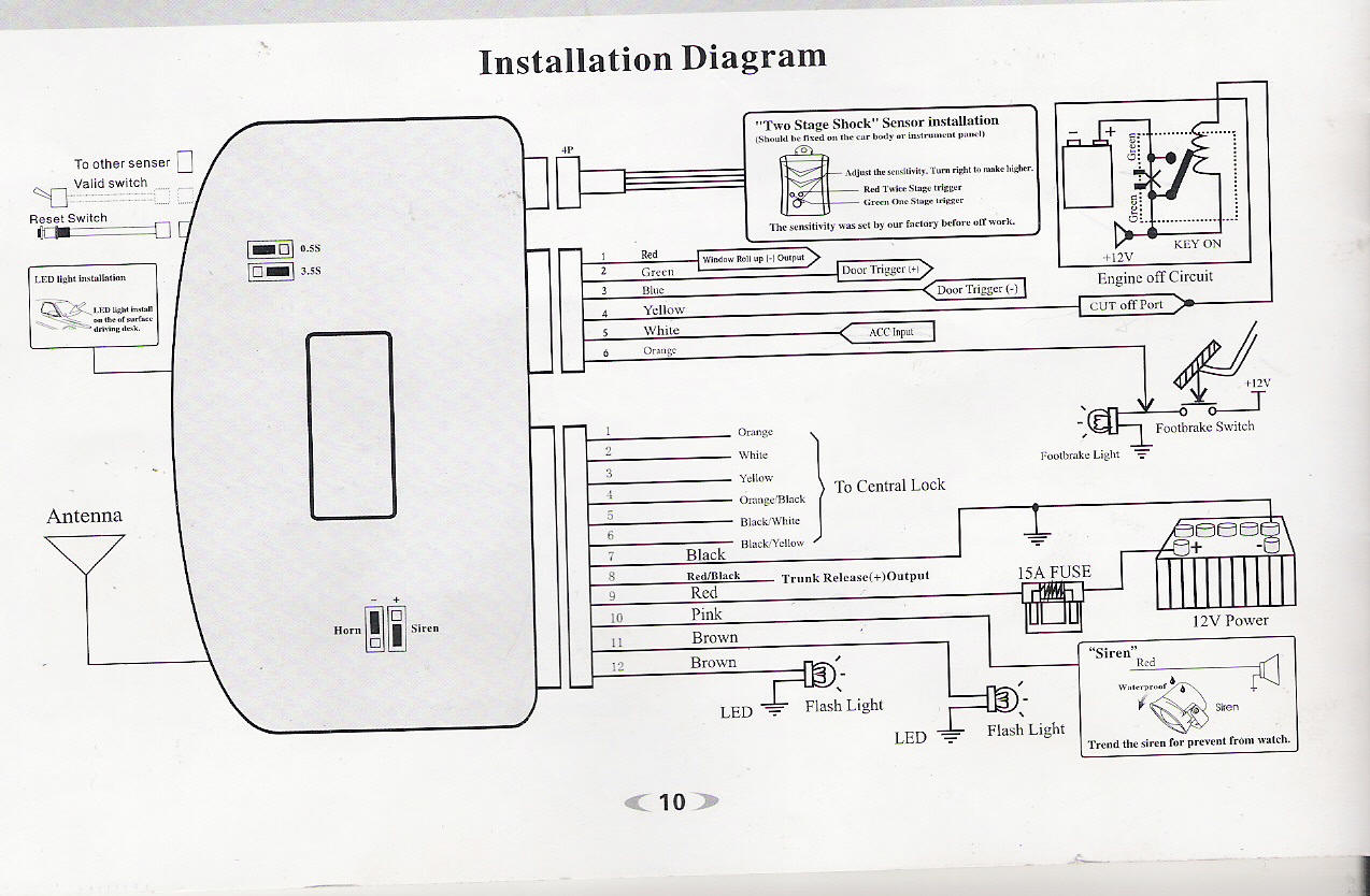 wiring diagram motorcycle alarm bargman trailer connector spy 5000m for installation
