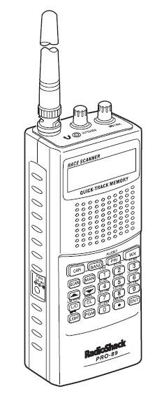 Radio Shack PRO-89 VHF-UHF Scanner-Reciever Manual EN