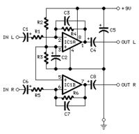 Audio to led amplifier using lm358