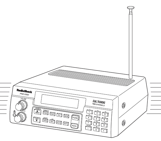 Radio Shack PRO-2052 VHF-UHF Scanner-Reciever Manual EN
