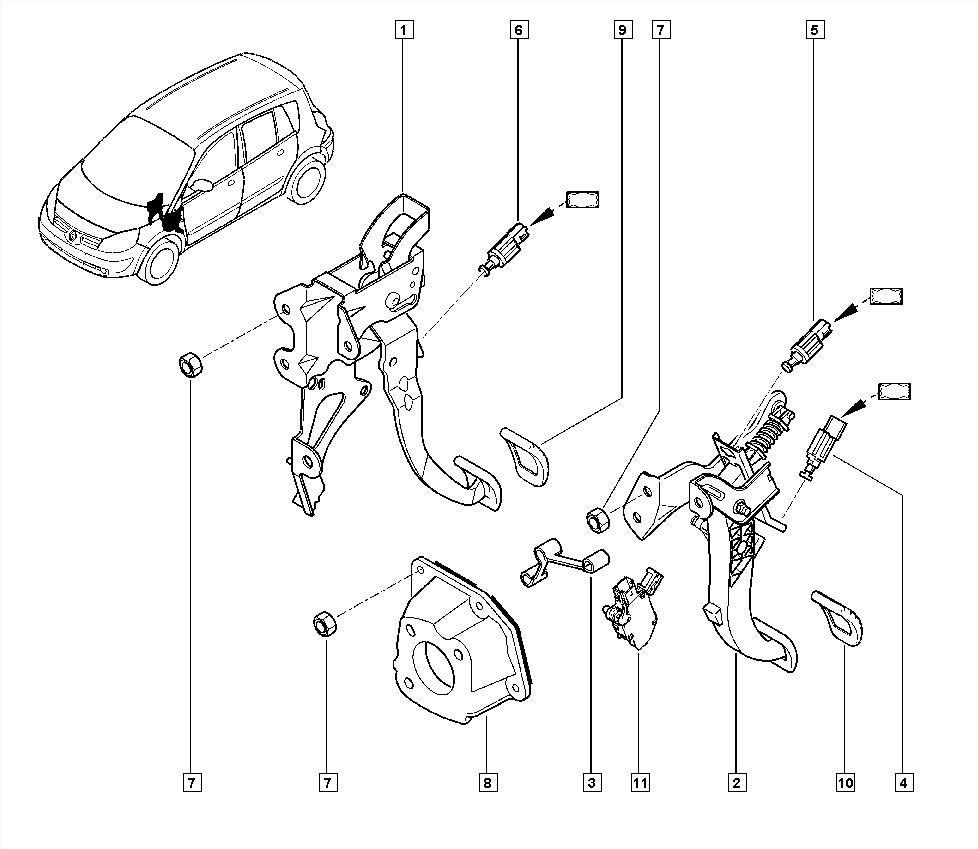 [Rozwiązano] Grand Scenic 2 Renault 1,9dci hamulec postojowy