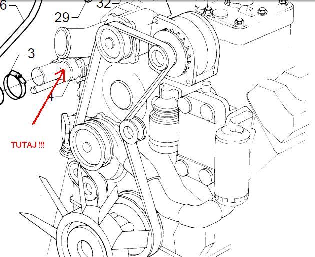 Wymiana termostatu SCANIA V8 (gdzie on się znajduje?)