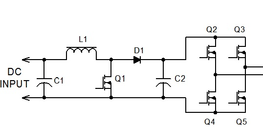 220v DC to 220v AC Transformerless invertor circuit