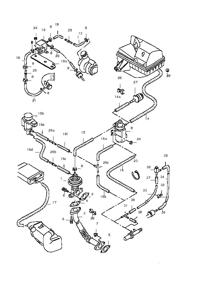 Wężyki podcisnienia T4 Transporter 2.5 TDi 2003 rok
