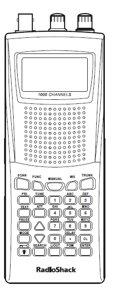 Radio Shack PRO 95 Wideband Scanner Reciever Manual