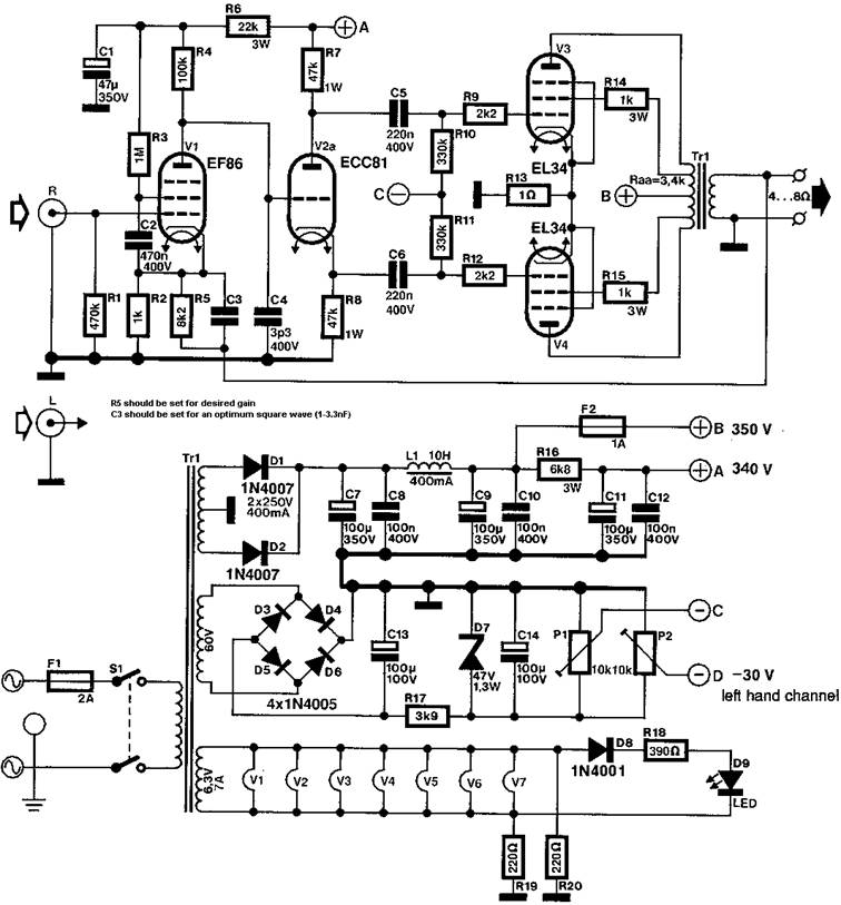 Vox Ac50 Schematic