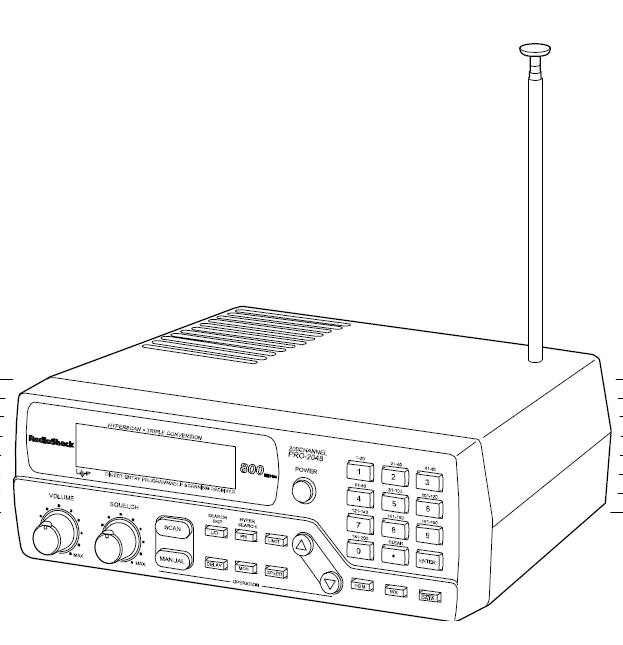 Radio Shack Pro-2048 VHF-UHF Scanner-Recieverr Manual EN