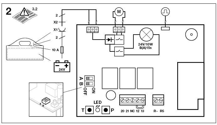 Podłączenie akumulatora do napędu Hormann Promatic