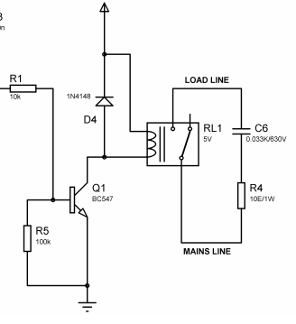 230v relay switching problem with rf