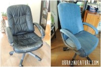 Fancy Makeover: Jeans Upholstery for an Old Chair