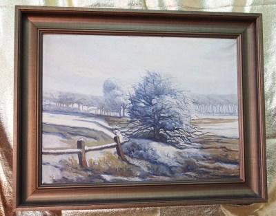 Pejzaż zimowy - duńskie malarstwo