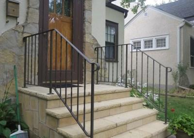 Exterior Step Railings O Brien Ornamental Iron | Iron Handrails For Outside Steps | Railing Systems | Front Porch | Aluminum Railing | Deck Railing