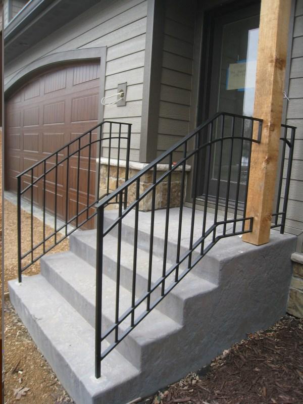 Wrought Iron Railings Exterior Steps