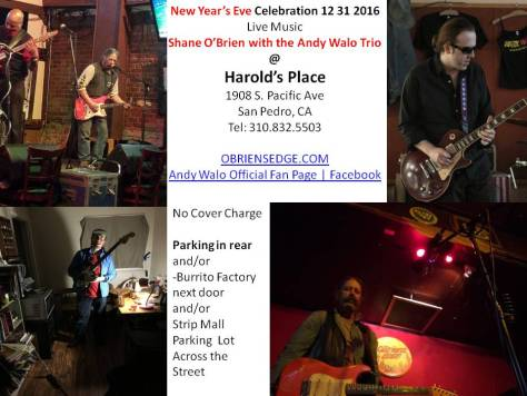 New Years Eve show featuring Shane O'Brien and Andy Walo