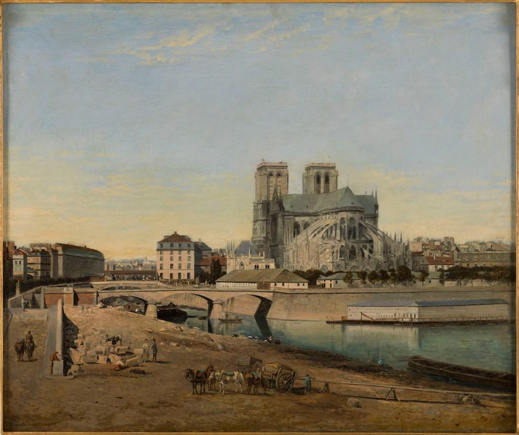 Huile sur bois de Notre Dame