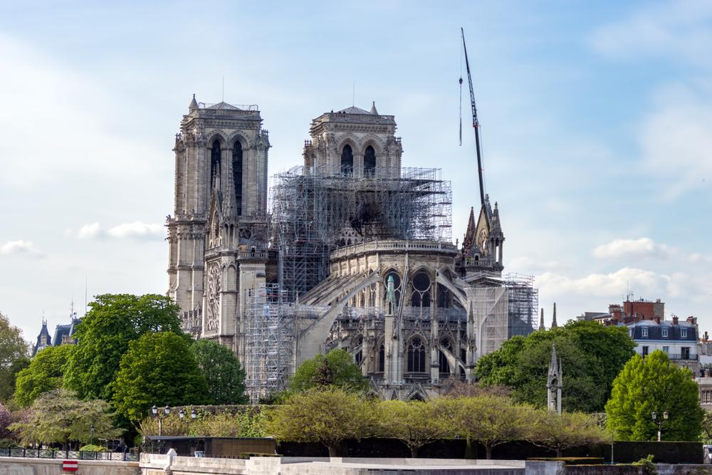 Notre Dame de Paris en travaux