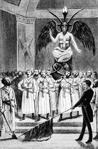 Templars party Baphomet style