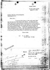 NICAP FBI letter