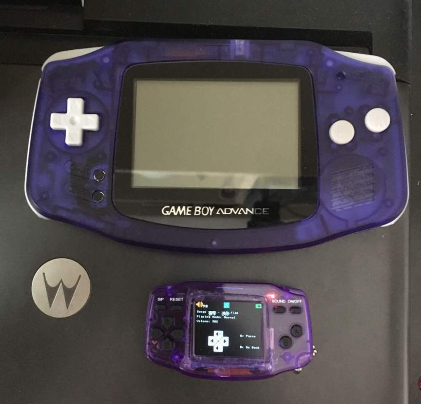 Gameboy Advance vs GBA Nano