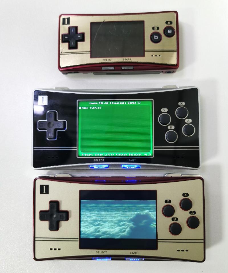 Anbernic RG300X vs Game Boy Micro Size