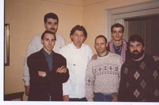 Pierre Gagnaire, Jordi Parramón,Toni Bru,Philippe en Vitoria 92