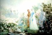 Dante y Beatriz a orillas del Leteo - completo