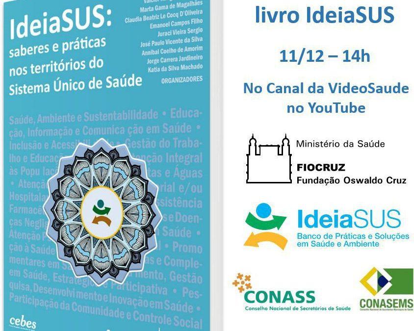 IdeiaSUS lança livro com reflexões e relatos de práticas municipais