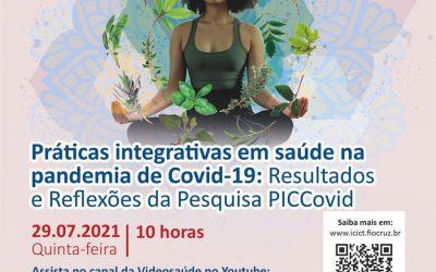 Webinário debate resultados da pesquisa que mostra adesão às PICS durante pandemia de Covid-19