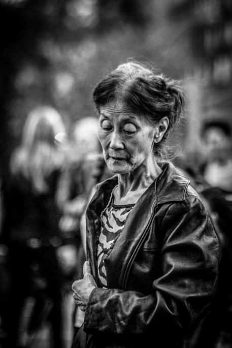 B&W Portrait of Elderly Asian Lady 5