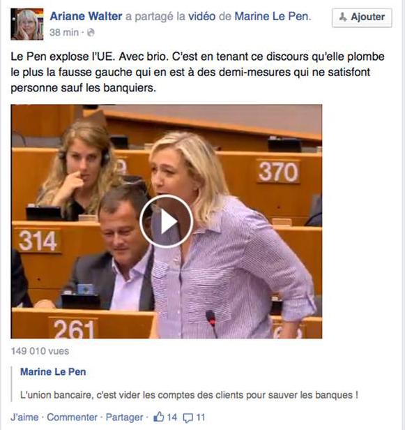 """Le Pen, """"quel brio!"""""""