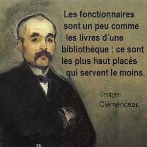 Clemenceau fonctionnaires