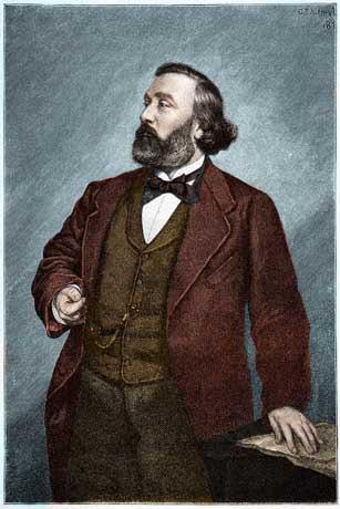 Portrait de Leon Gambetta (1838-1882), homme politique franais. ©Bianchetti/Leemage