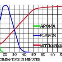 Características del lúpulo según tiempo de cocción