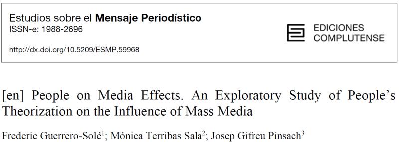 Cabecera del artículo sobre media effects