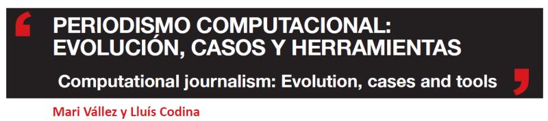 Cabecera del artículo sobre periodismo computacional