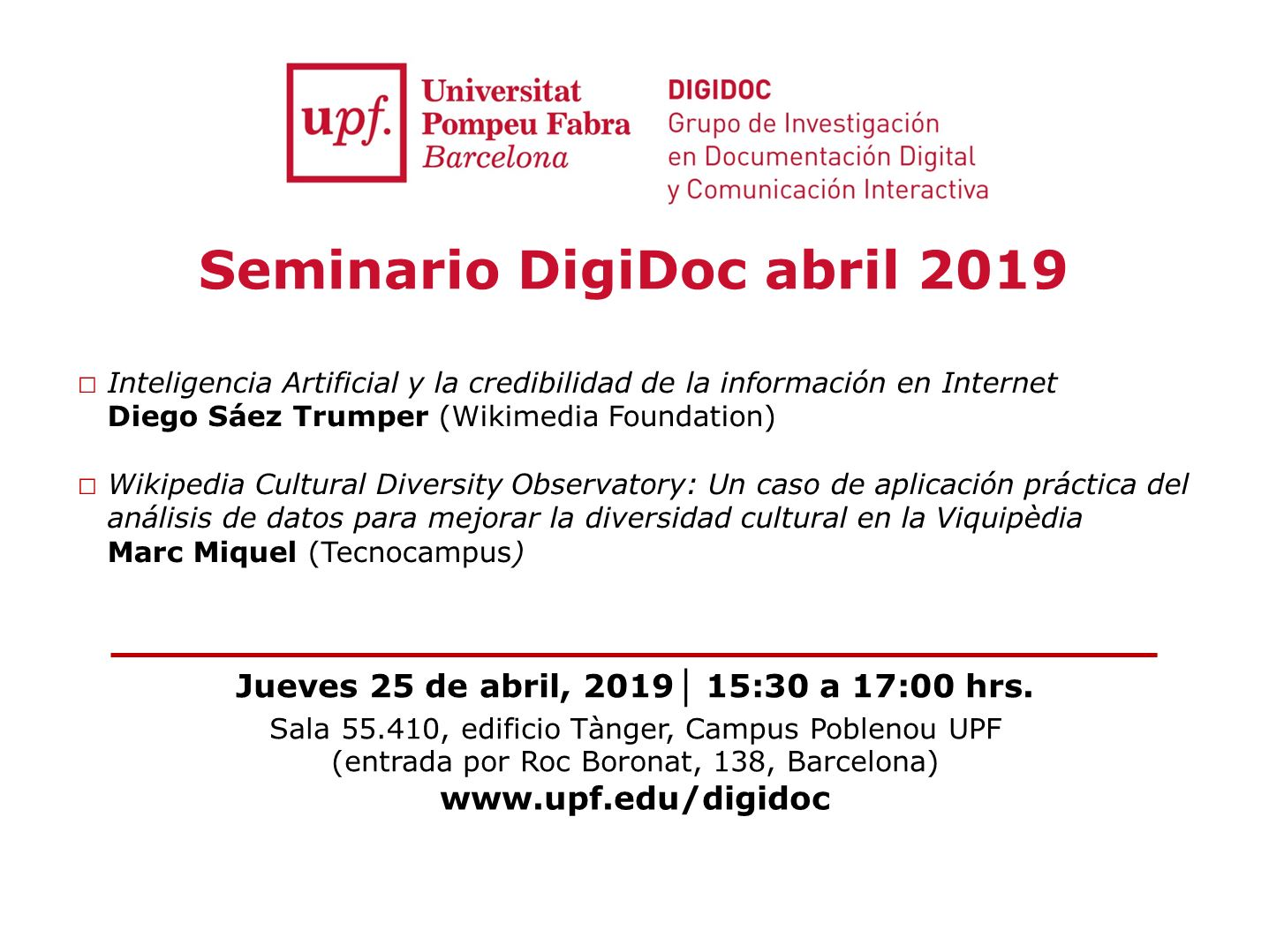 Seminario DigiDoc abril 2019