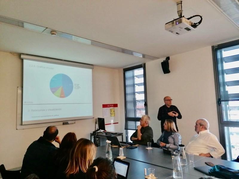 """El doctor Pérez Montoro, ofrece una exposición monográfica sobre la """"Visualización de datos para la investigación"""", que versa sobre métodos y técnicas para la visualización, codificación y caracterización de la información a través de elementos gráficos."""