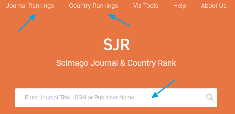 Búsqueda de información sobre revistas académicas en Scimago